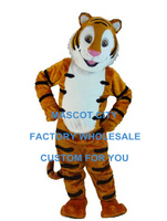 Smiling Cartoon Tiger Mascot Costume Adult Size Character Animal Theme Carnival Party Cosply Mascotte Mascota SW1008