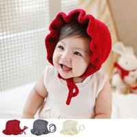Noworodka kapelusze z dzianiny Stałe Księżniczka Czapki Śliczne Dziewczyny dziecko bonnet newborn fotografia rekwizyty