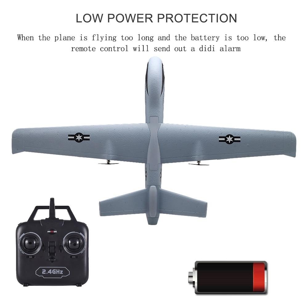 Avion RC Avion Z51 20 Minutes de Temps De Vol Planeur 2.4G Volant Modèle avec LED Main Jetant Envergure Mousse Avion Jouets pour Enfants 2