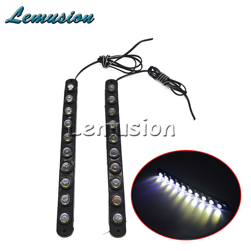 1pair 10 Led Car Daytime Running Light 12v Car Fog Drl Lamp For Porsche 911 Cayenne Macan For