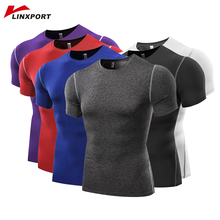 Men Short Sleeve T Shirts Fitness Basketball Running Tights Sports Thermal Muscle Bodybuilding Gym Compression Jersey Jacket Top