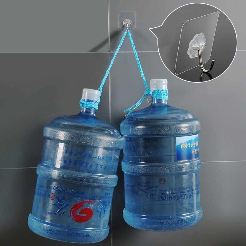4 sztuk łożyska 3KGS klej silny hak ścienny szczęście koniczyny przezroczyste haki kuchenne wodoodporne akcesoria łazienkowe zestaw