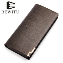 cow leather men long wallet casual leather wallets men hand bag