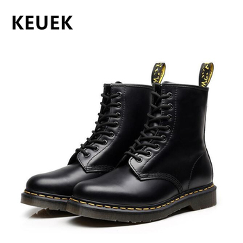 New Arrival Classic Men boots Genuine leather Lace-Up Male shoes Ankle Motorcycle boots High quality Tooling boots 02C