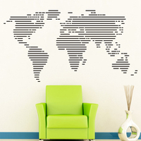 Karte der welt Wandaufkleber Große weltkarte Home Decor Abnehmbare Vinly Wandtattoos Büro aufkleber-in Wandaufkleber aus Heim und Garten bei