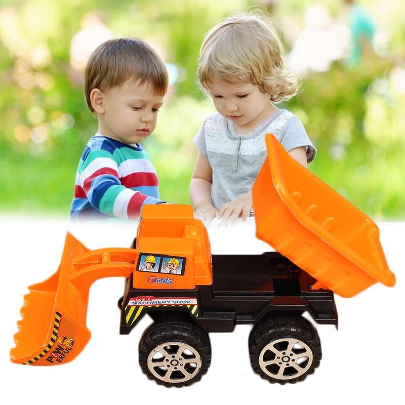 Mini Children Kid Toy Car Bulldozer Construction Vehicle Simulation Model Gift