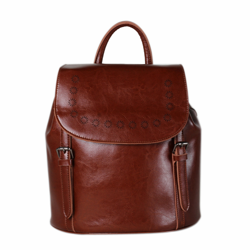 Fashion Women's Backpacks GENUINE LEATHER Women Girl Students School Bag Small Shoulder Bags Women Casual Back Packs Travel Bag hot sale women s backpack the oil wax of cowhide leather backpack women casual gentlewoman small bags genuine leather school bag