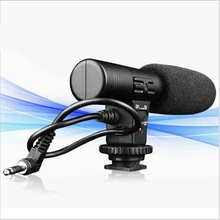 SIDANDE Stereo Shotgun Recording Microphone Mic for Canon for Nikon for Sony Video Cameras camcorder