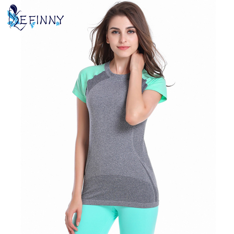 Life Market Co. , Ltd Hot ! Women Short Sleeve Esportes Quick Dry T-shirt Fitness Correndo Workout Tees