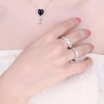JPalace Infinity CZ Engagement Ring Set 925 Sterling Silver Rings for Women Wedding Rings Bands Bridal Sets Silver 925 Jewelry 2