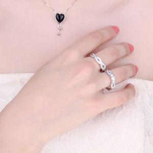 Image 4 - JPalace Infinity CZ zestaw pierścionków zaręczynowych 925 srebro pierścionki dla kobiet obrączki zespoły zestawy ślubne srebro 925 biżuteria