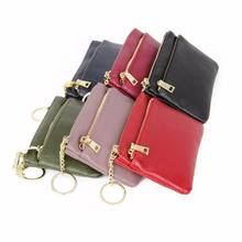KANDRA 2019 Versatile Plain Genuine Leather Coin Wallet Personalized Women Credit Card Holders Small Slots Key Bag Wholesale
