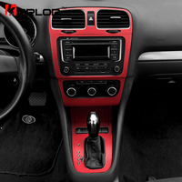 Volkswagen Golf 6 MK6 GTI Interior Central Control Panel Carbon Fiber Protection Stickers Decals Car Styling