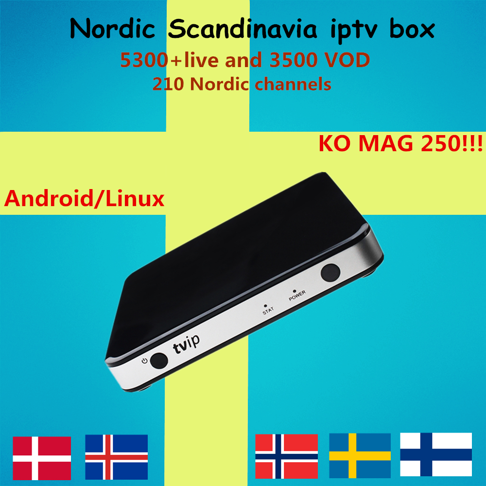 Sweden IPTV TVIP 605 Android Linux Smart TV Box 5000 channels Mag IPTV Nordic Norway Europe