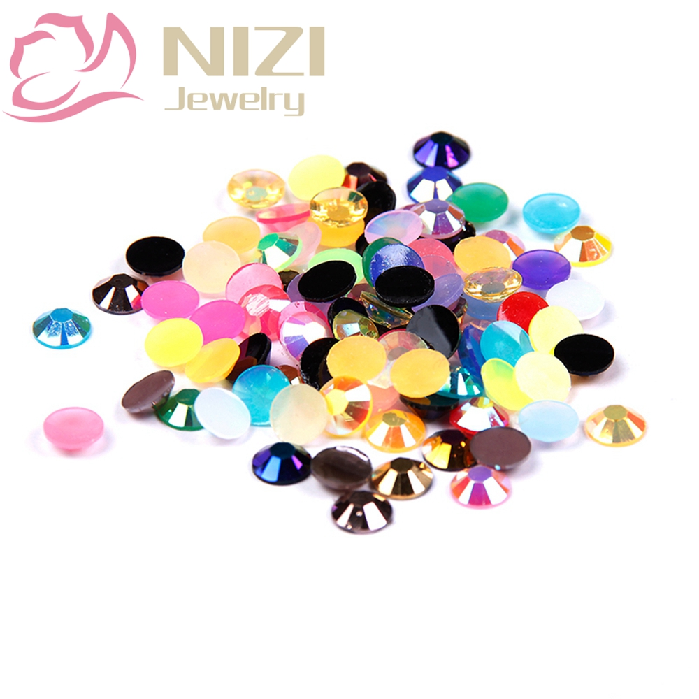 Glitter Resin Rhinestone 2-6mm Mixed Colors 14 Facets For Nail Art DIY Decoration Flatback Non Hotfix 2016 Nail Design Tools gitter 2 6mm citrine ab color resin rhinestones 14 facets round flatback non hotfix beads for 3d nail art decorations diy design