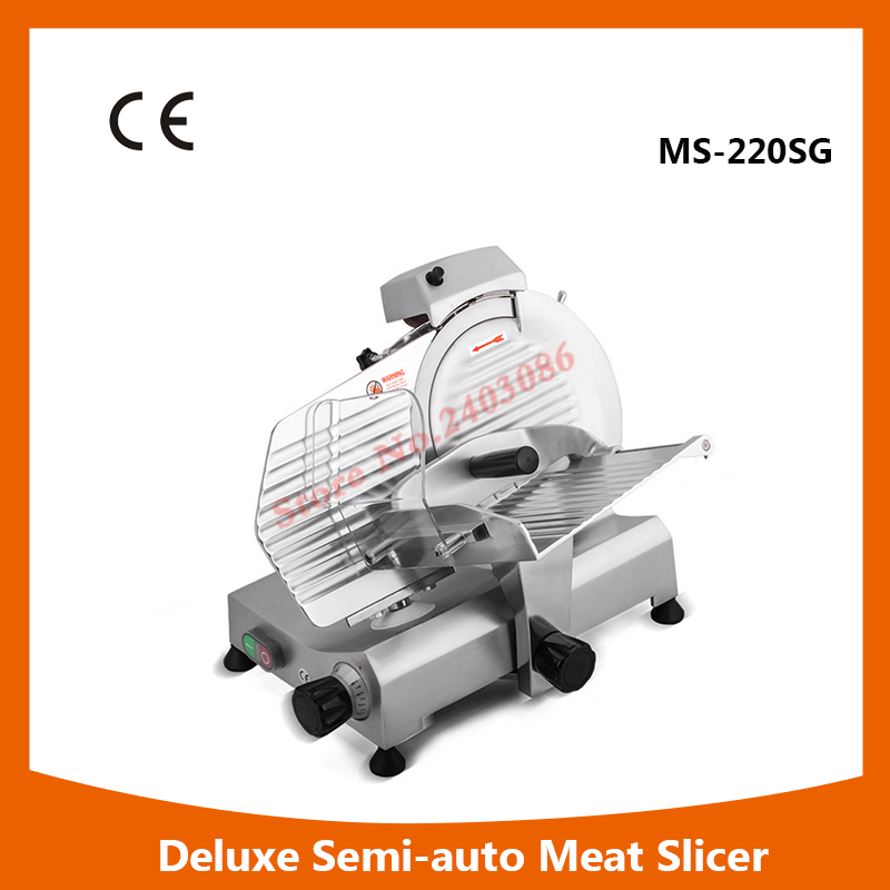 MS-220SG 8 Deluxe  Anodized aluminium alloy electric frozen meat slicer food cutting machine for sales