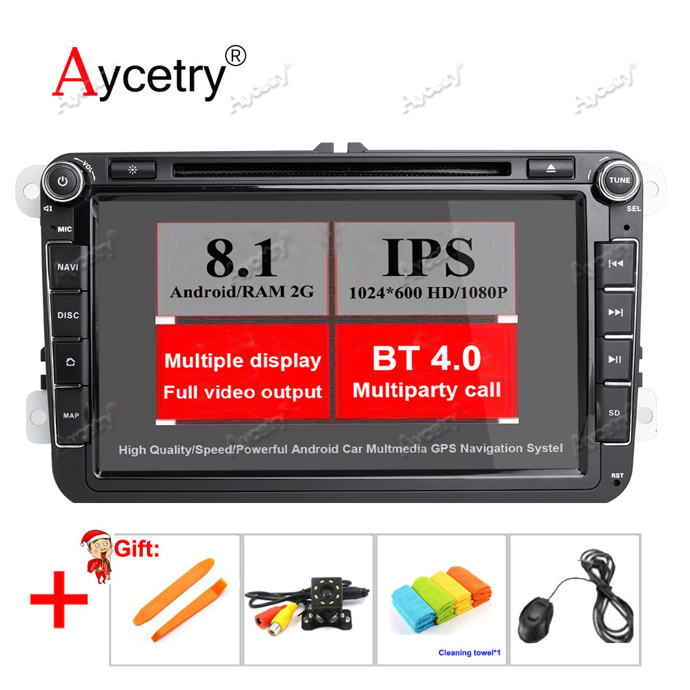 aycetry ips 2g android 8 1 car dvd player radio for vw. Black Bedroom Furniture Sets. Home Design Ideas