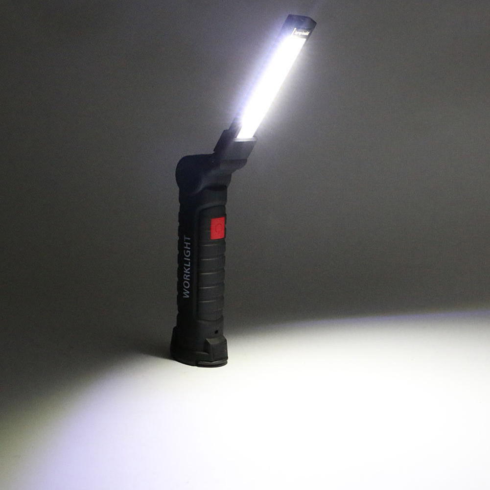 LED Rechargeable Magnetic COB Torch Handheld Inspection Lamp Cordless Worklight Tool ALI88 bosch worklight 0603975801