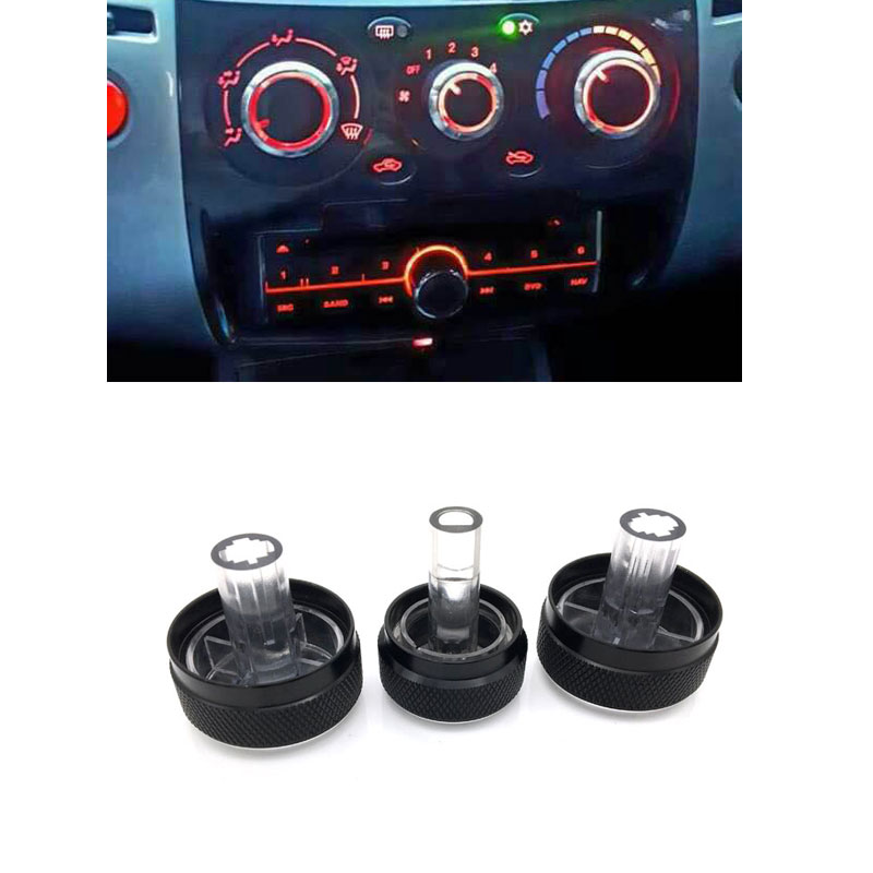 For Mitsubishi Triton 2006-2014 3pcs/set Car AC Knob Air Conditioning Knob Heat Control Switch Knob