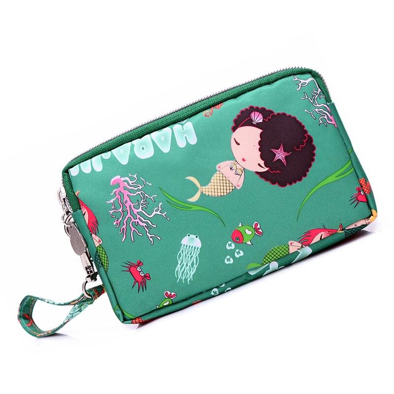 Womens 2018 fashion handbag Wrist strap mini Flap Casual totes three zipper phone cash purse Cheuqe handbag fancy femini Clutch