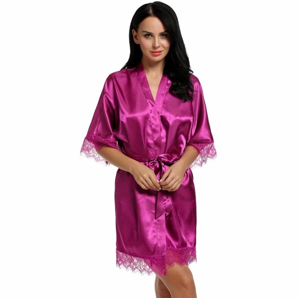 Sexy Wedding Dressing Gown Women Short Satin Bride Robe Lace Silk Kimono  Bathrobe Summer Bridesmaid Nightwear Plus Size Peignoir - TakoFashion -  Women s ... ae15e6f6e