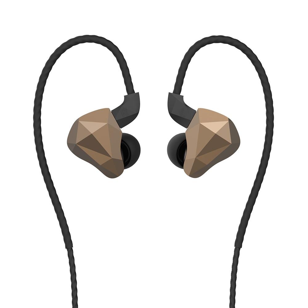 Écouteurs Yinyoo TOPAZ 4BA + 1DD dans l'oreille 10 MM Bio-diaphragme personnalisé alliage pilote dynamique hybride HIFI DJ moniteur écouteurs écouteurs