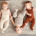 INS Romper Do Inverno Do Bebê Camisola de Malha Romper para Bebês Infantil Macacão Fox Newborn Boy Girl Pés Cobertos Ternos Do Corpo Roupas