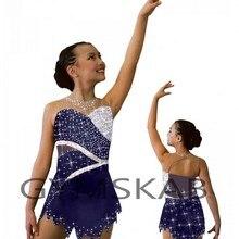 Г. Изящное платье для фигурного катания для девочек, платье для фигурного катания по индивидуальному заказу костюм для гимнастики без рукавов 8892-1A