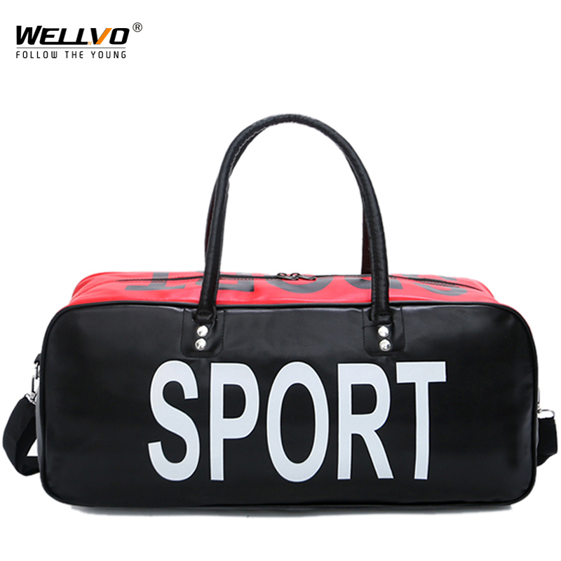 Purposeful Large Capacity Patchwork Leather Bags Waterproof Unisex Gym Bag Travel Yoga Handbags Fitness Training Crossbody Bag New Xa203zc Luggage & Travel Bags Luggage & Bags