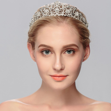 Miallo Vintage Wedding Tiaras Crowns for Bridal Rhinestones Crystal Hair Accessories Jewelry Sparkling Princess Queen Pageant