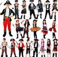 Deluxe Пиратский капитан Одежда Партийные выступления дети пиратские костюмы мальчики хэллоуин косплей костюмы для детей Платье Девушки
