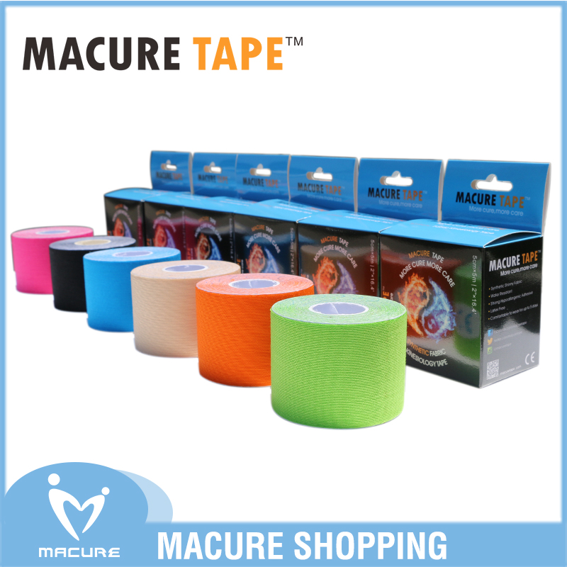 цена на Macure Tape Sports Cotton Kinesiology Tape Elastic Adhesive Muscle Physio Cure Injury Support K active Nastro Kinesiologia Sport