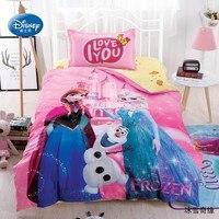 Disney Frozen Anna Elsa Olaf Twin Duvet Cover Set 3 Pieces for Kids Bedroom Decor Home Textile Bedlinen Single Girls Gift