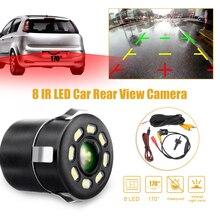 170 Degree Lens 8 LED Car Auto CCD Rear View Camera Waterproof Backup Monitor Parking Reversing Camera HD IR Night Vision