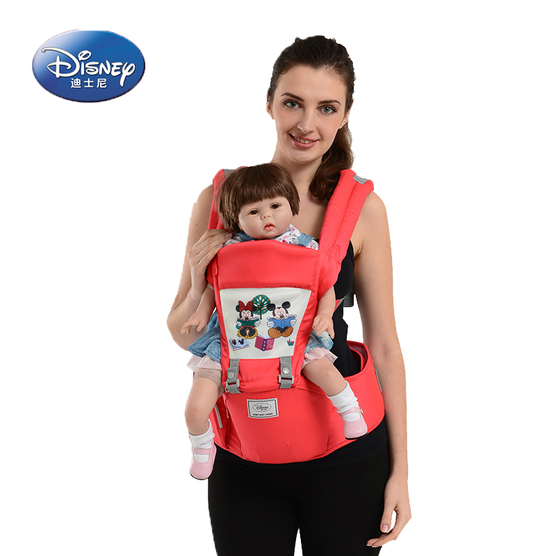 Disney Breathe Printde Waist Stool Multi-function 3D Breathable Strap Inported Fabrics Mother & Kids Backpacks & Carriers ubela multi function two line baby stool mother strap mint green