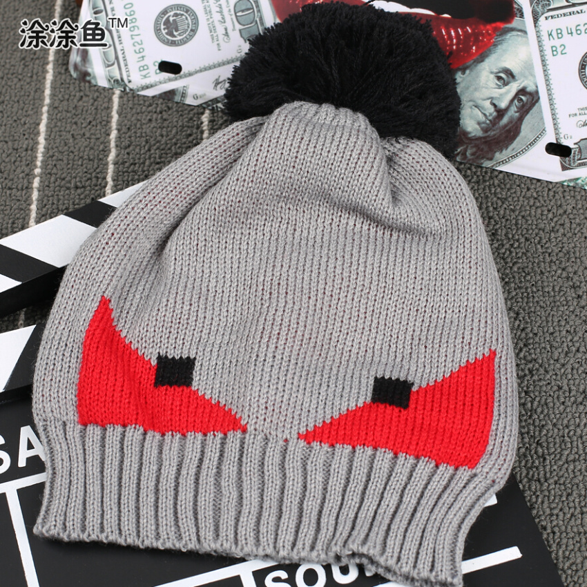 Fashion Winter Wool Knitted Hats Bonnet Cartoon Basketball Gorros Extreme Sports Beanies Hip-Hop Skullies For Kids Free Shipping winter hats for women thick beanies gorros de lana mujer knitted wool skullies warm snapback hip hop cap bonnets en laine homme