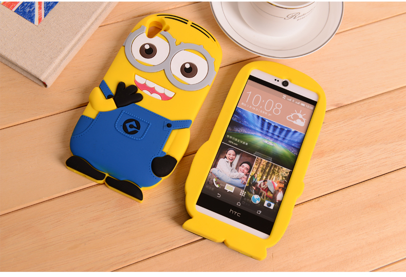 quality design a2d83 df9db US $4.65 |Cute Despicable Me Minions Silicone Phone Case For HTC Desire 826  Silicon Cases Yellow Minion 3D Cartoon Back Cover on Aliexpress.com | ...