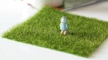 Miniatures Green Lawn Bonsai Terrarium Figurines Plant Pot Resin Decoration DIY Dollhouse Fairy Garden Miniatures Decorations
