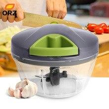 ORZ Manual Meat Grinder Chopper Handhelp Food Processor Vegetable Cutter Shredder Fruit Mincer Mixer Blender Kitchen Accessories