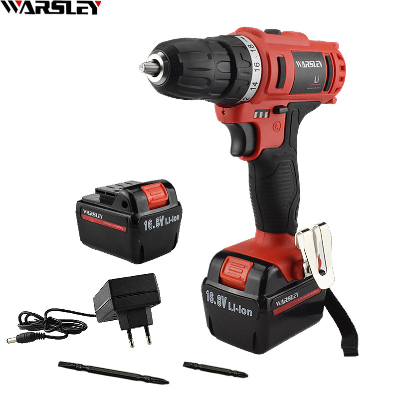 16.8V Double Speed Hand Cordless Power Tools Drill Electric Drill Mini Drilling Rechargeable Battery Drill Electric Screwdriver mini drill electric variable speed mini drill diy micro electric hand drill with accessories power tools for drilling