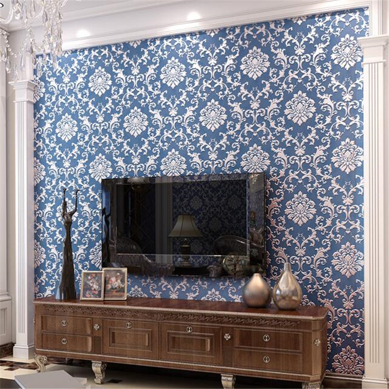 beibehang European luxury embossed wallpaper 3D relief three-dimensional non-woven living room backdrop bedroom warm wallpap beibehang wallpaper 3d three dimensional relief korean garden flower large open living room bedroom full shop wallpaper backdrop