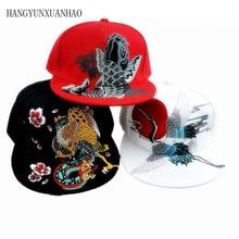 купить Quality Embroidery Hip Hop Baseball Cap For Men Women Crane Snapback Bone Caps Spring Summer Autumn Cotton Hats Couple Hat по цене 407.87 рублей