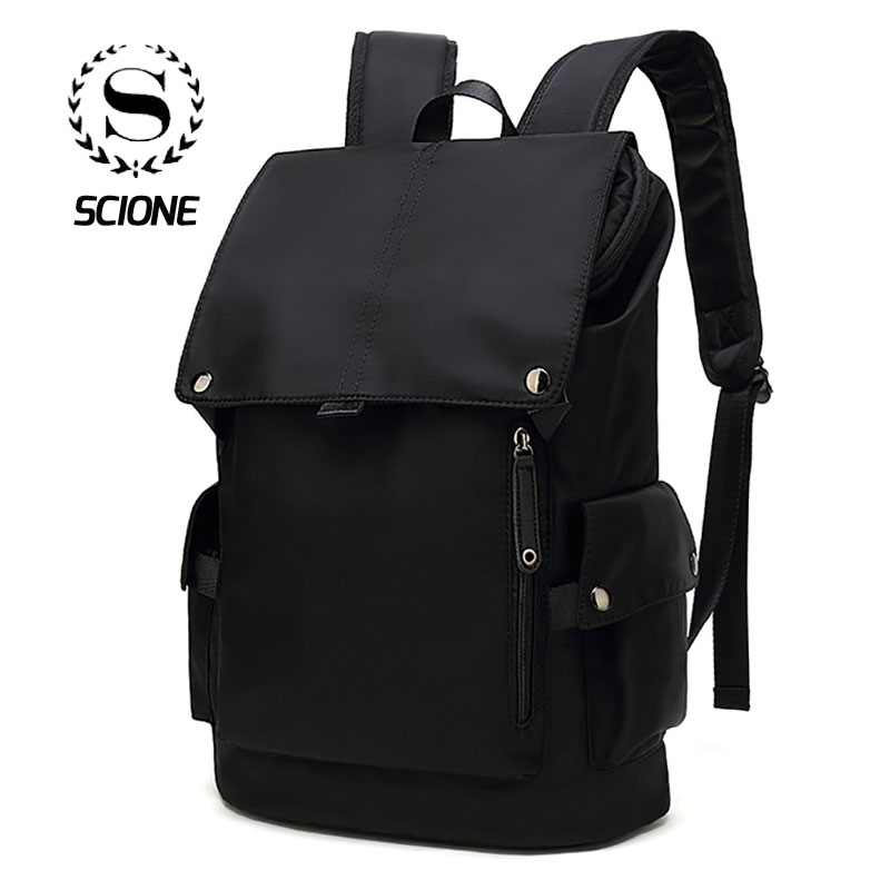 Scione Men Waterproof Backpack Stripe Plaid Camouflage Star Printing Solid Travel Bagpack Large Casual Laptop School Back Bags