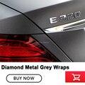 Hoogwaardige serie Klassieke Diamond Metal Grey Matte Grey Vinyl met Air Release metallic houtskool grijs Wrap Folie