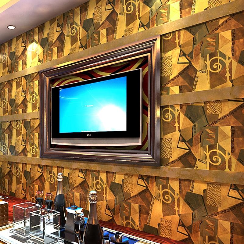 PAYSOTA KTV papier peint 3 D personnalité mode rétro Bar fantaisie boîte de bal fond thème chambre papier peint rouleau