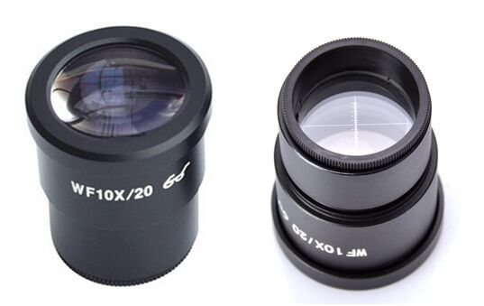 ФОТО Free shipping,Supper Widefield WF10x -20mm Microscope Eyepiece W/Cross reticle  Dia30mm for  Stereo microscope