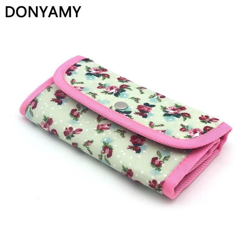 Сумка DONYAMY для женщин, 1 шт., сумка для вязания крючком, крючок с принтом, органайзер, сумка, швейные инструменты, аксессуары|needle case|crochet accessories toolsknitting holder | АлиЭкспресс