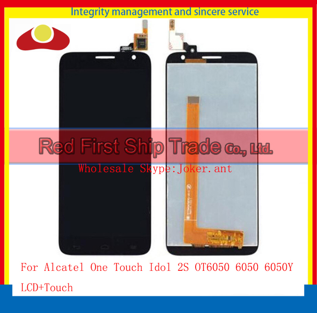 "5.0"" For Alcatel One Touch Idol 2S OT6050 6050 6050Y Lcd Display Touch Screen Digitizer Assembly Complete Sensor Black White"