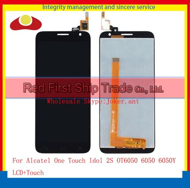 """5.0 """"para alcatel one touch idol 2 s ot6050 6050 6050y sensor de lcd screen display toque digitador assembléia completa branco preto"""