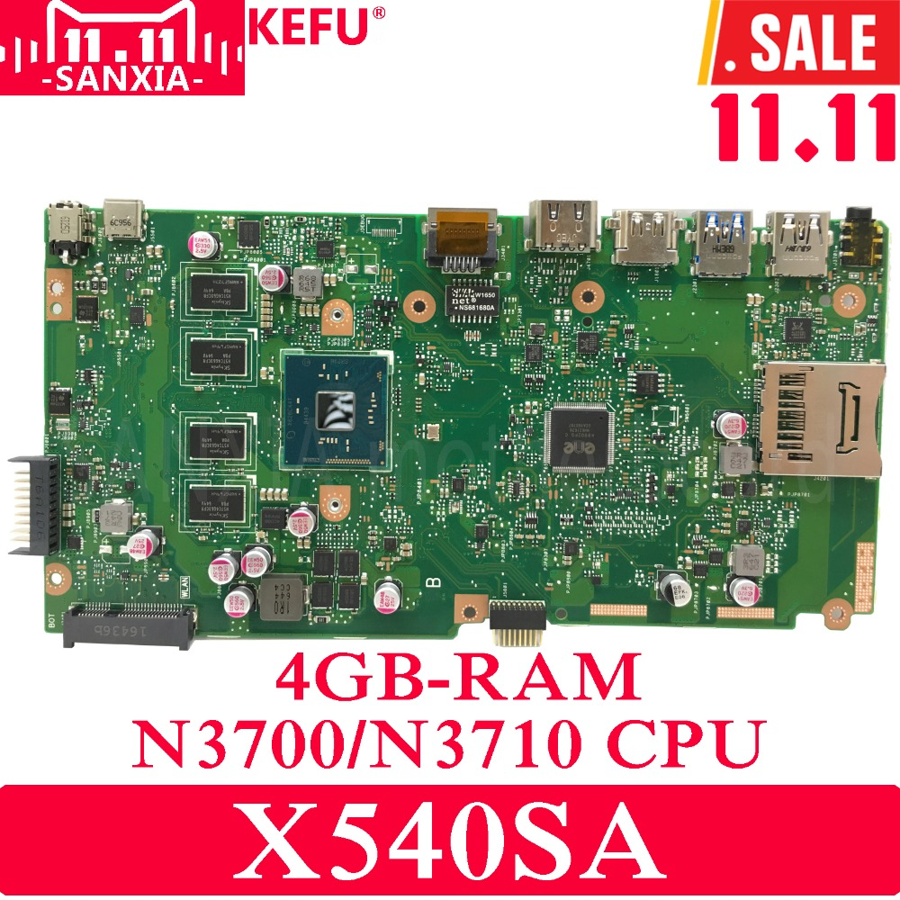 KEFU X540SA Laptop motherboard for ASUS VivoBook X540SA X540S X540 F540S Test original mainboard 4G-RAM N3700/N3710 4-Core CPU трусы vis a vis vis a vis vi003ewzve32
